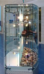 custom glass display cabinets and