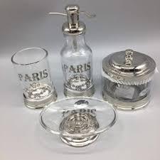 off on 4pc bella lux bath accessory set