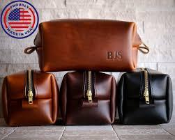 xl personalized leather dopp kit third