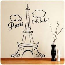 Funk N Class With Eiffel Tower Wall Decals Paris Theme Decor Paris Room Decor Paris Rooms