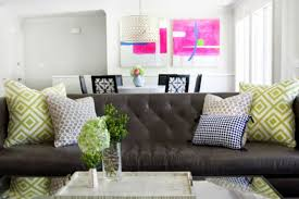 room using brown couch decor vanilla h g