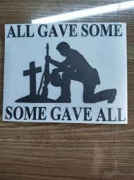 15 11 9cm All Gave Some Fallen Soldier Vinyl Decal Sticker Truck Window Decor Decals Jesus Religion Church Car Styling Car Stickers Aliexpress