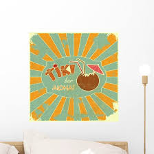 Retro Design Tiki Bar Wall Decal Wallmonkeys Com