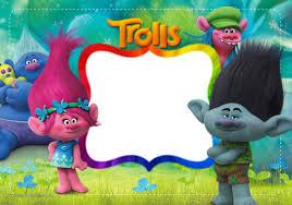 Invitacion Cumpleanos Trolls Tarjetas De Cumpleanos Para Ninos