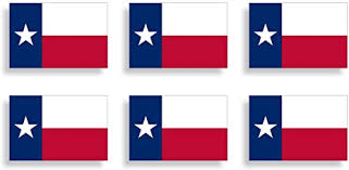 Amazon Com Mini Texas Flag Sticker Tx Miniature Tag Cup Laptop Car Vehicle Window Bumper Graphic Plate Decal Everything Else