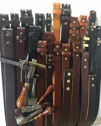 custom leather belts hand crafted in