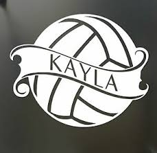Volleyball Sticker Custom Name Decal Car Window Sticker Pick Your Color Mom Ebay