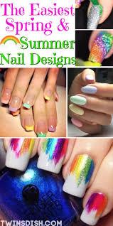 super easy spring summer nail designs
