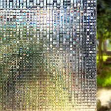 Dodoing Window Film Non Adhesive Window Privacy Film 3d Static Cling Window Glass Film Decorative Anti Uv Window Sticker Heat Control Window Cling For Home Kitchen Office Walmart Com Walmart Com