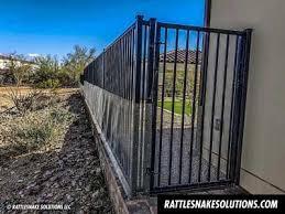 Snake Fence And Arizona Rattlesnake Prevention Fencing Installation Rattlesnake Solutions Llc