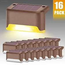 Denicmic Vwjflk4 Denicmic Solar Deck Lights 16 Pack Fence Post Solar Lights For Patio Pool Stairs Step And Pathway Weatherproof Led Deck Lights