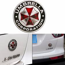 7 5cm New Umbrella Corporation Metal 3d Resident Evil Umbrella Car Sticker Badge Umbrella Corporation Resident Evil Survival Games
