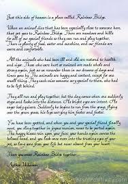 rainbow bridge printable poem pet loss pet quotes dog