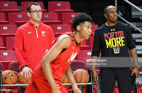 College Park, MD. Maryland assistant coaches Dustin Clark and Bino ...