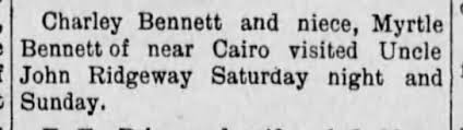 Charley Bennett, Myrtle Bennett, John Ridgeway, Cairo MO - Newspapers.com