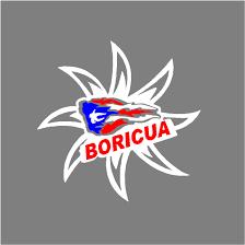 Boricua Sun White Car Sticker 4 X 4 Mi Puerto Rico Import