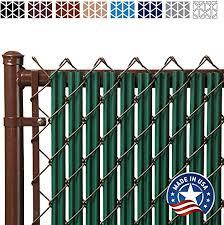 Amazon Com Ridged Slats Slat Depot Single Wall Bottom Locking Privacy Slat For 3 4 5 6 7 And 8 Chain Link Fence 7ft Green Garden Outdoor