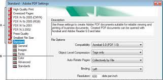 adobe pdf conversion settings acrobat