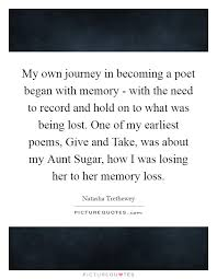 my own journey in becoming a poet began memory the