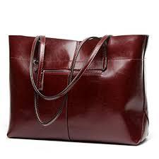 real leather tote handbags com