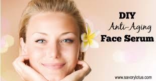 diy anti aging face serum savory lotus