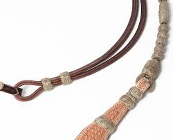 leather romal reins with rawhide