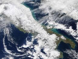 Immagine satellitare nel campo visibile: notare quanta neve sulle ...