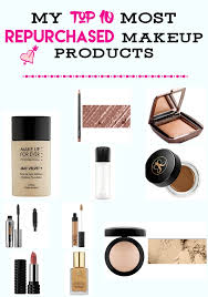 my top 10 most repurchased makeup s