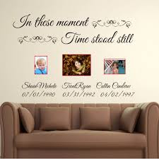 In These Moments Time Stood Still Custom Name Lettering Wall Decals Vinyl Quotes Customized Name Wall Stickers Cut Vinyl C18 Vinyl Quotes Name Wall Decalswall Decals Aliexpress