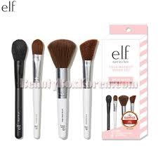 e l f face makeup brush set 4items