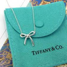 tiffany sterling silver bow necklace
