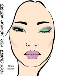 face charts for makeup artists shea