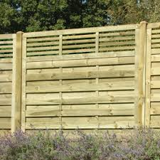 Elite Slatted Top Fence Panel Pressure Treated Free Delivery Available