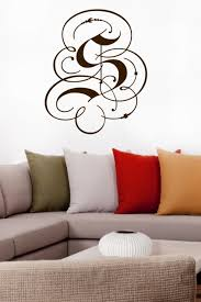 Fancy Monogram Letter Wall Decals Wall Stickers Art Without Boundaries Walltat Com