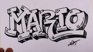 graffiti writing mario name design 38