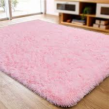 Amazon Com Actcut Super Soft Modern Shag Area Silky Smooth Kids Room Rugs Living Room Carpet Girls Room Rug Bedroom Rug For Children Play Solid Home Decorator Floor Rug And Carpets 4 Feet