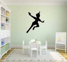 Amazon Com Peter Pan Silhouette Vinyl Wall Decal Sticker Graphic By Lks Trading Post