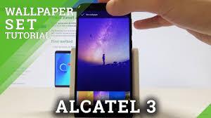 alcatel 3 how to change wallpaper set