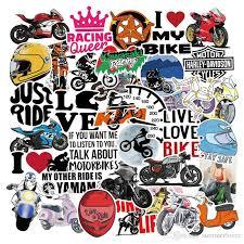 2020 Pack Motor Motorbike Riding Live Love Bike Stickers Skateboard Laptop Stickers Laptop Bike Car Graffity Vinyl Decals Bm 0060 From Summerlover 5 23 Dhgate Com
