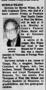Myrtle Thompson Wilson aged 82 died 1981 - Newspapers.com