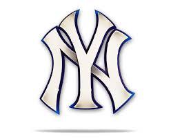 New York Yankees Ny Logo 3d Metal Artwork Hex Head Art