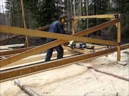 homemade swingblade sawmill in sweden
