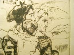 ADA C. WILLIAMSON Etching PHILADELPHIA EIGHT California Maine PAFA  Illustrator | #1862611033