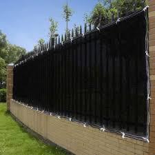4 X50 Black Fence Screen 90 Privacy Fencing Mesh Amazon Co Uk Garden Outdoors