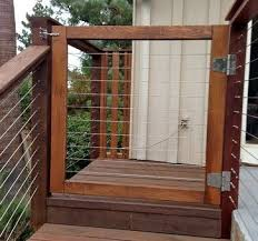 Wood Framed Cable Railing Systems Modern Home Fencing And Deck Gate Backyard Gates Cool Deck