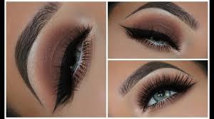 a simple brown smokey eyeshadow look