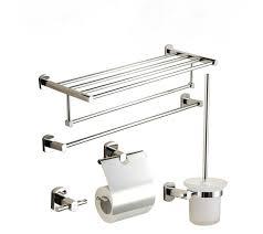 chrome finish bathroom accessory set