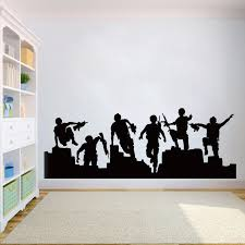 Soldier Wall Decal Soldier Military Silhouette Vinyl Decals Army Wall Sticker For Boy Room Soldier Removable Sticker Hy884 Wall Stickers Aliexpress