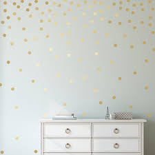 Easy Peel Stick Gold Wall Decal Dots 1 Inch 300 Decals Safe On Walls And Paint Metallic Vinyl Polka Dot D In 2020 Gold Wall Decals Polka Dot Decor Gold Walls