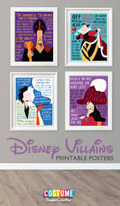 evil disney villain quotes printable posters mom and more